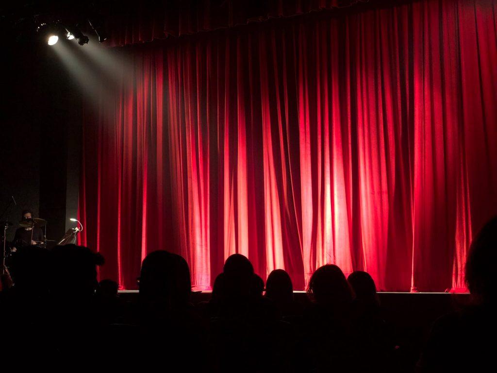 lights illuminating the stage