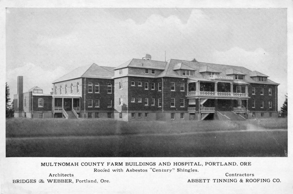 multnomah county farm buildings and hospital