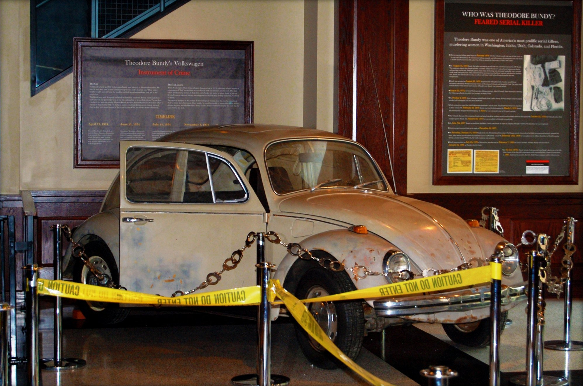 Ted Bundy's Volkswagen Beetle, the car he used while he lured his victims to their death.