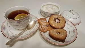 tea cakes and tea