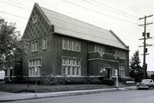 A photograph of the haunted North Portland library. The library is the oldest in Portland and is rumored to be haunted by a pesky bathroom poltergeist.
